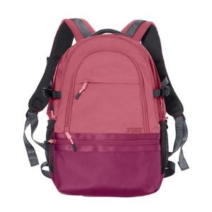 VS PINK campus rose burgundy gray backpack